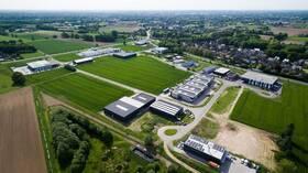 Luftbildansicht Gewerbegebiet Holtwick