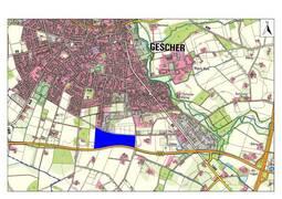 Das Gebiet liegt im Süden des Stadtgebietes der Glockenstadt Gescher.