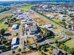 Blick auf das Gewerbegebiet Olfen-Ost. Im Hintergrund: Erweiterungsfläche